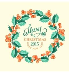 Christmas mistletoe wreath vector image vector image