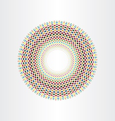 Colorful halftone squares circle abstract vector