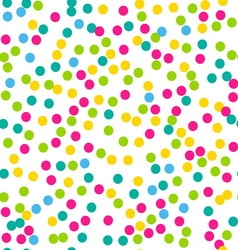 Confetti seamless pattern bright colors vector