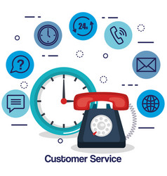 Customer service flat settings vector