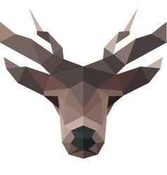 Deer polygons horned animal head logo vector