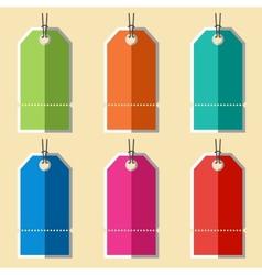 Flat blank badges labels vector