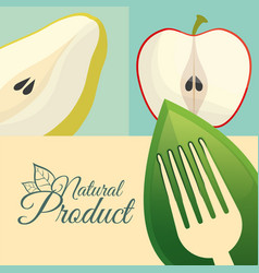 Food diet natural product poster vector