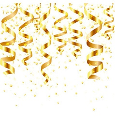 Gold Curling Stream vector image