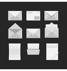 Icons for letter vector image