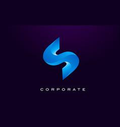 letter s logo s letter design vector image vector image