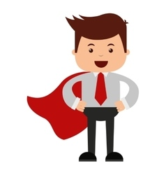 Man businessman cartoon character icon vector