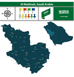 Map of al madinah saudi arabia vector