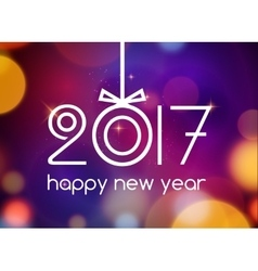 New Year 2017 festive card template New year vector image vector image