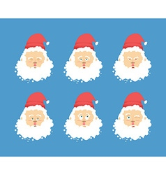 Santa claus emotions set christmas character vector