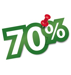Seventy percent sticker vector image