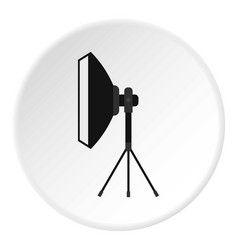 spotlight icon circle vector image