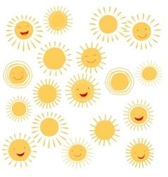Sun smile symbols vector