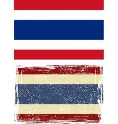 Thai grunge flag vector