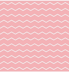 Tile pattern white zig zag on pink background vector image