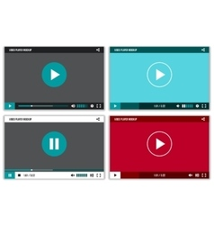 Video player interface for web and mobile apps vector