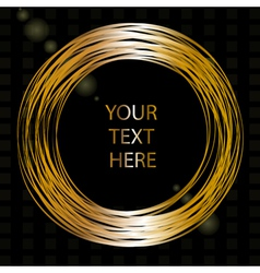 frame with gold wires vector image
