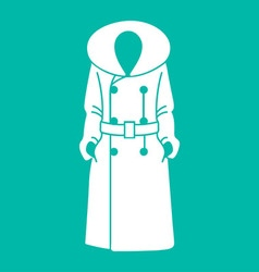 Women coat icon on background vector