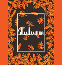 flowers poster template autumn typography vector image