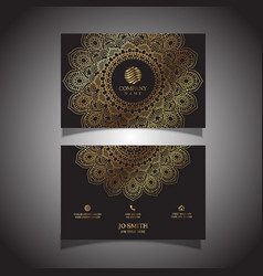 Elegant business card vector