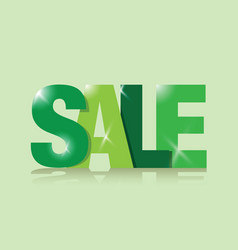 Green sales sign vector