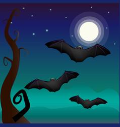 A bat under vector