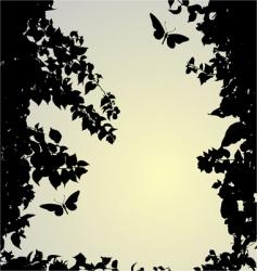 Silhouette border vector