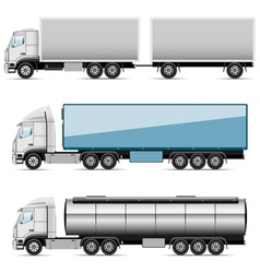 Autotruck set vector