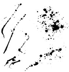Ink blots lines vector