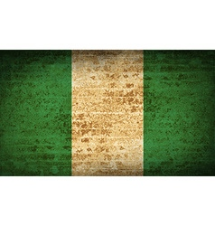 Flags nigeria with dirty paper texture vector