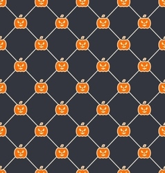 Seamless texture with carving pumpkins vector
