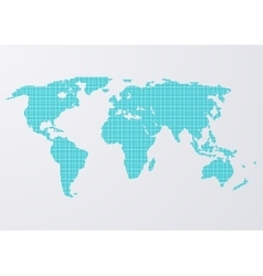 a world map circles vector image