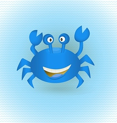Hand drawn blue crab vector