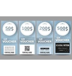 Set of modern gift voucher templates chemistry vector