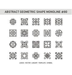 Abstract geometric shape monoline 80 vector