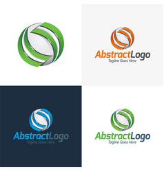 abstract logo and icon vector image