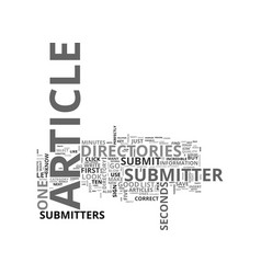 Article submitters are incredible text word cloud vector
