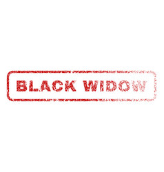Black widow rubber stamp vector
