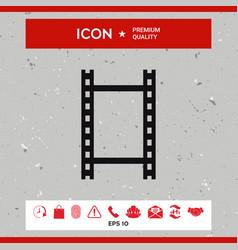 camera roll photographic film camera film icon vector image