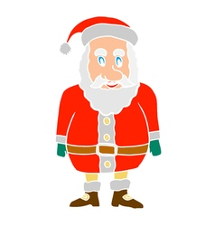 cartoon shocked santa claus vector image