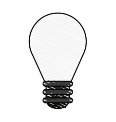 Color crayon stripe cartoon light bulb flat icon vector