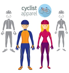 Cyclist apparel clothing vector