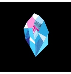 Drawing of a mysterious crystal vector