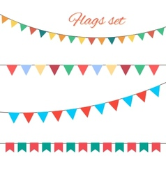 Flags set for your birthday design vector image vector image