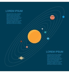 Flat style solar system vector image
