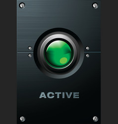 Green button vector