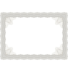 guilloche horizontal frame vector image vector image