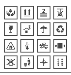 Handling and packing symbols vector image