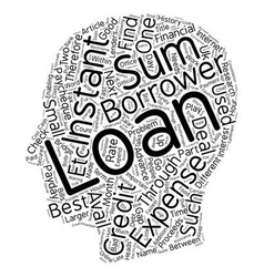 Instant loans fast financial assistance text vector