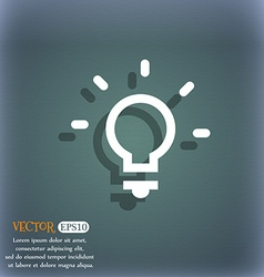 Light lamp Idea icon symbol on the blue-green vector image